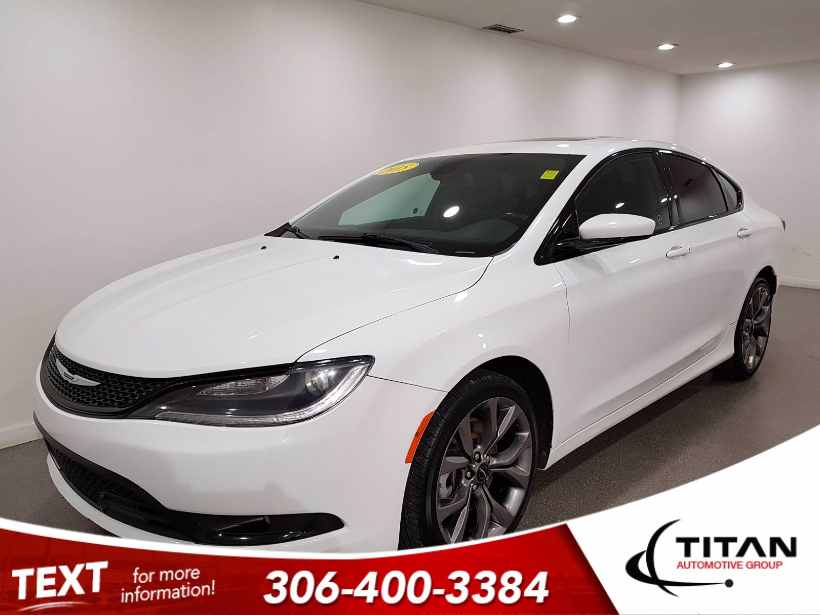 Pre-Owned 2015 Chrysler 200 S 3.6L V6 | Sport Leather | Pano Sunroof | Alpine | Navigation | Remote Start | Bluetooth | Rims