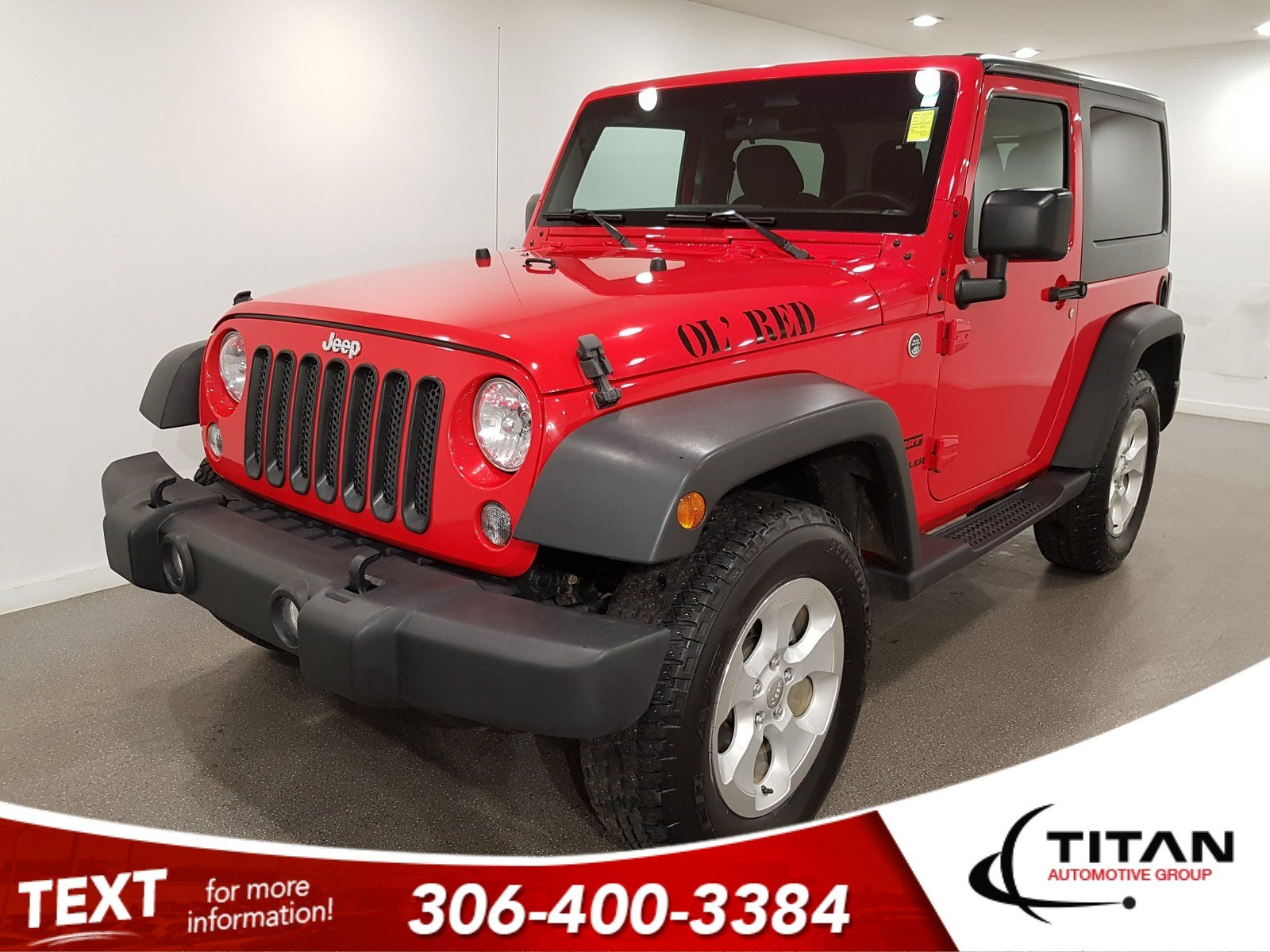 Pre-Owned 2015 Jeep Wrangler Sport|4x4|Alloys|3.6L V6 Pentastar|6spd|Aux|Removable Hardtop|Local
