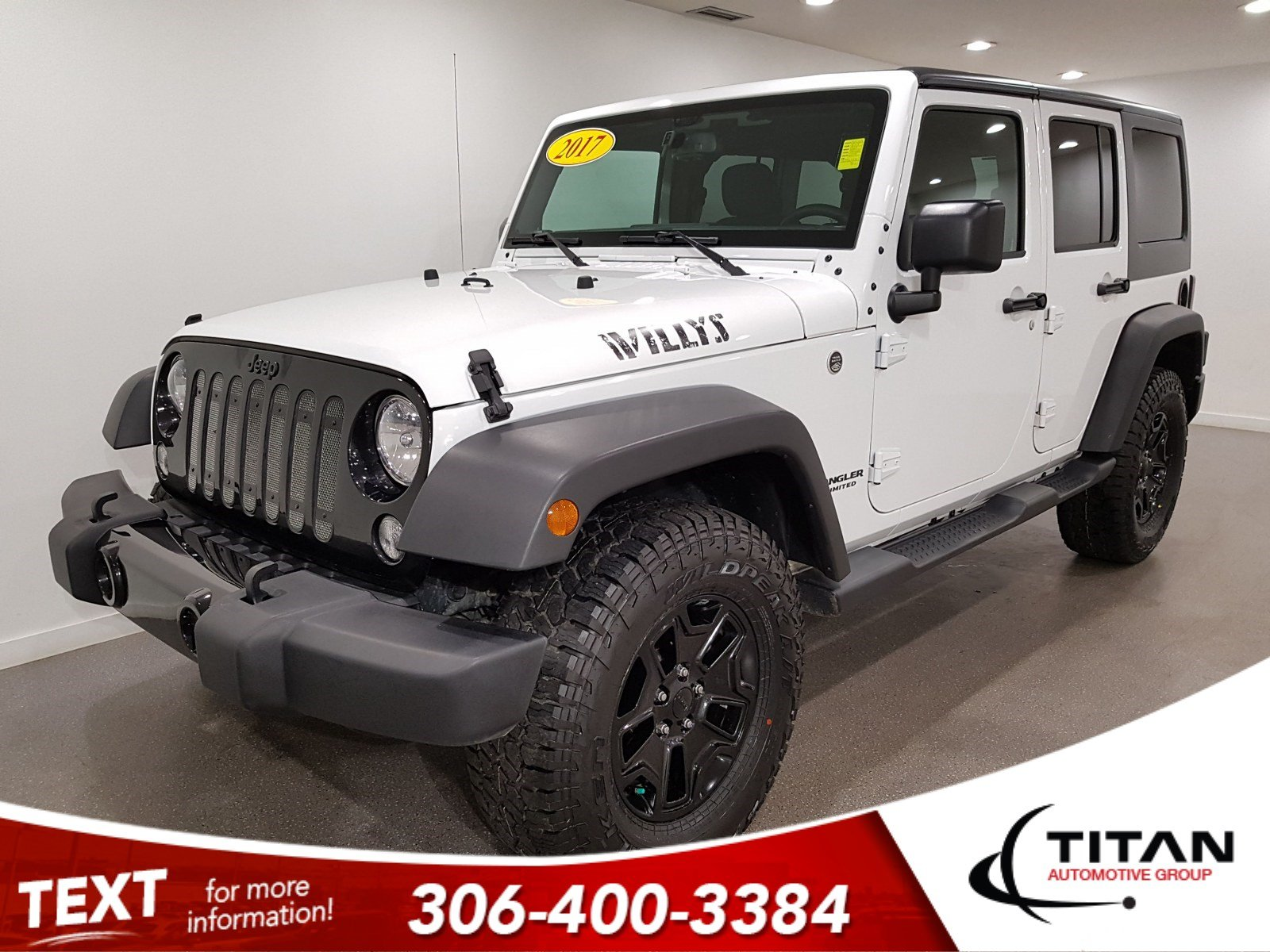 Pre-Owned 2017 Jeep Wrangler Unlimited Sport|Unlimited|4x4|Bluetooth|Htd Mirrors|Rims
