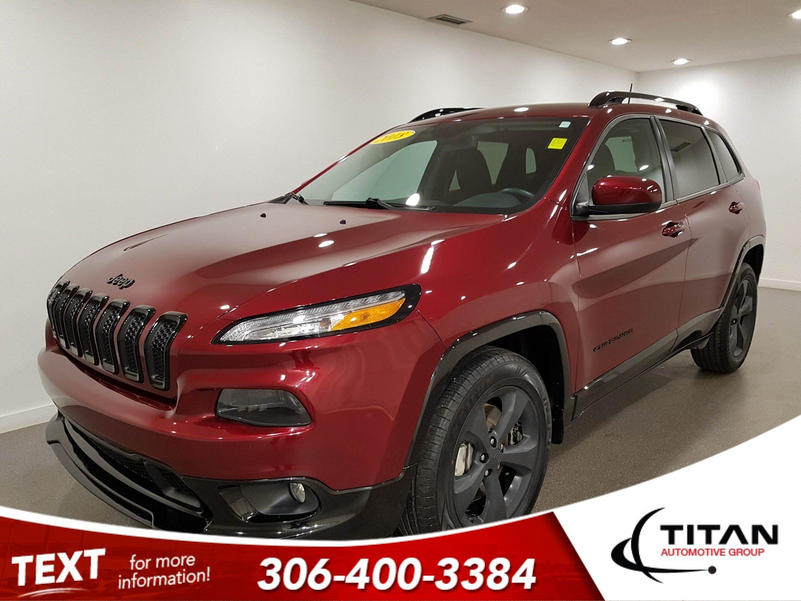 Pre-Owned 2018 Jeep Cherokee North|Local|4x4|V6|CAM|NAV|Rims|Htd Seats