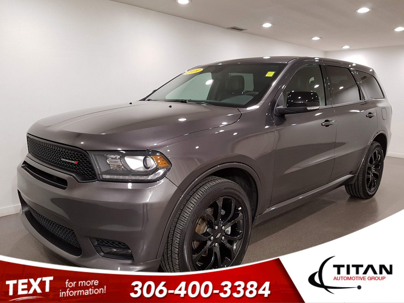 Pre-Owned 2019 Dodge Durango GT AWD V6 | Leather | Sunroof | Navigation | DVD