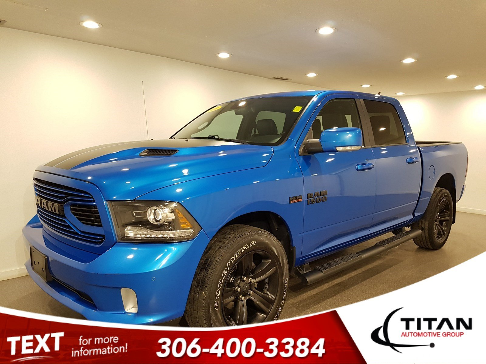 Pre-Owned 2018 Ram 1500 Sport Crew Cab | Heated Seats and Steering Wheel | Sunroof | Navigation