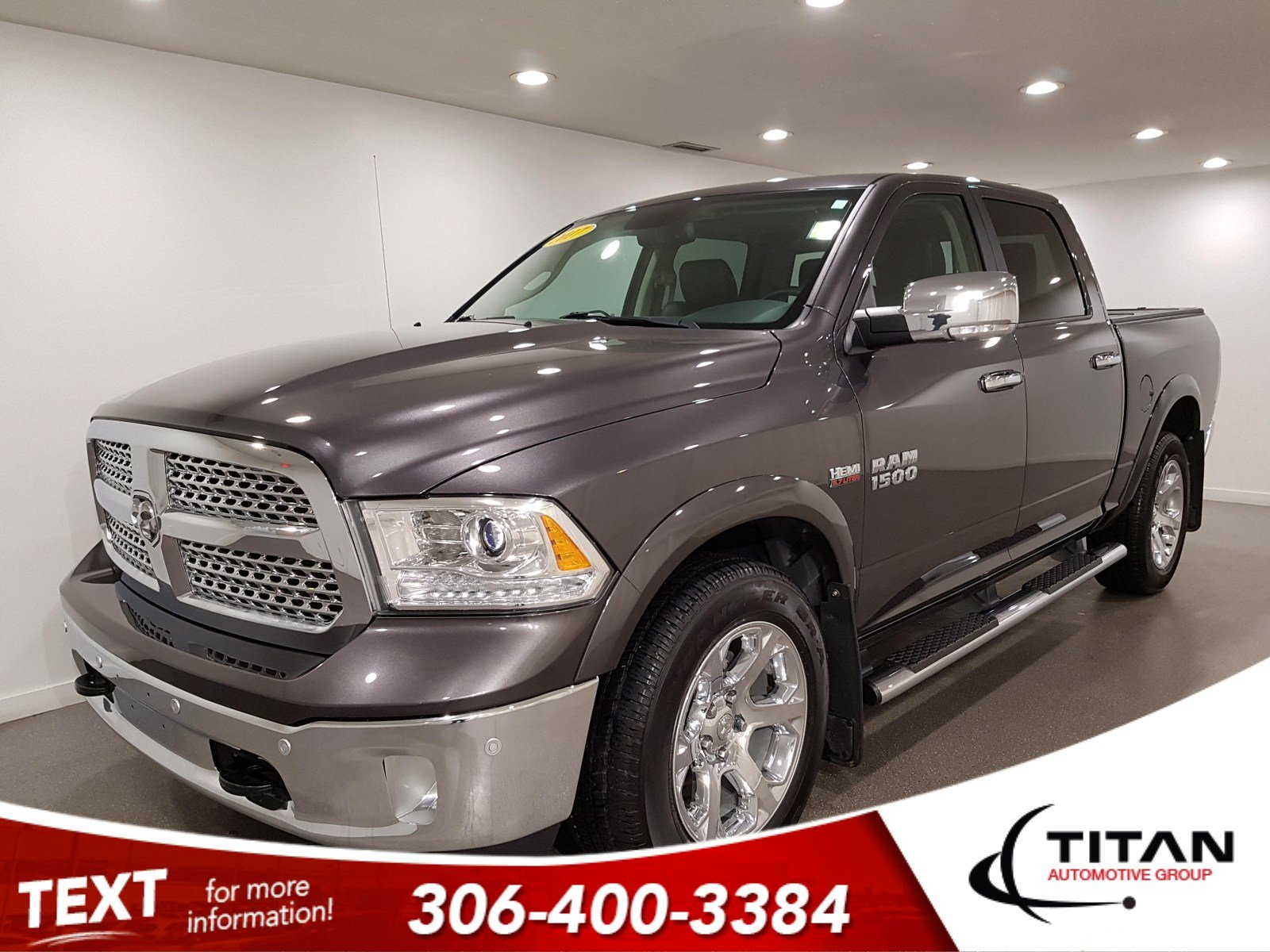 Pre-Owned 2017 Ram 1500 Laramie|V8|4x4|CAM|Leather|Rims|Htd Seats