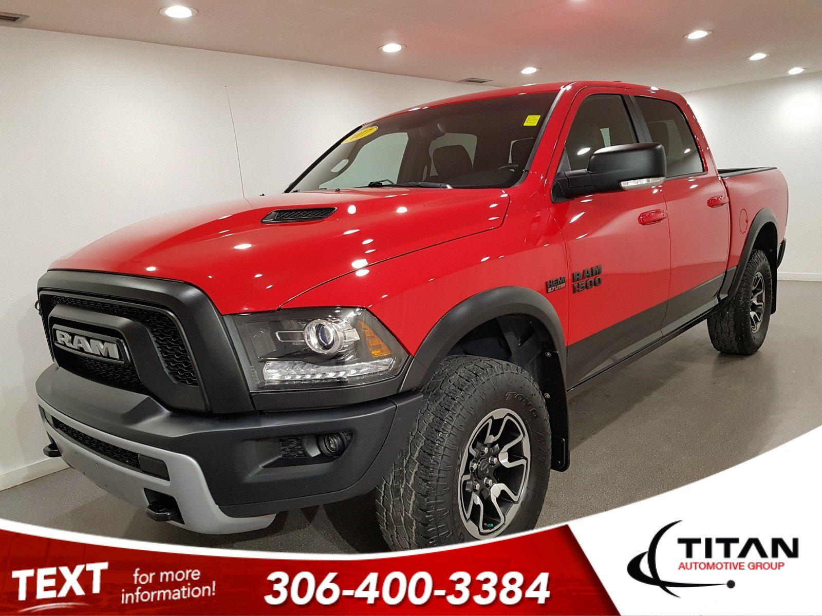 Pre-Owned 2017 Ram 1500 Rebel Crew Cab | Heated Seats | Sunroof | Remote Start