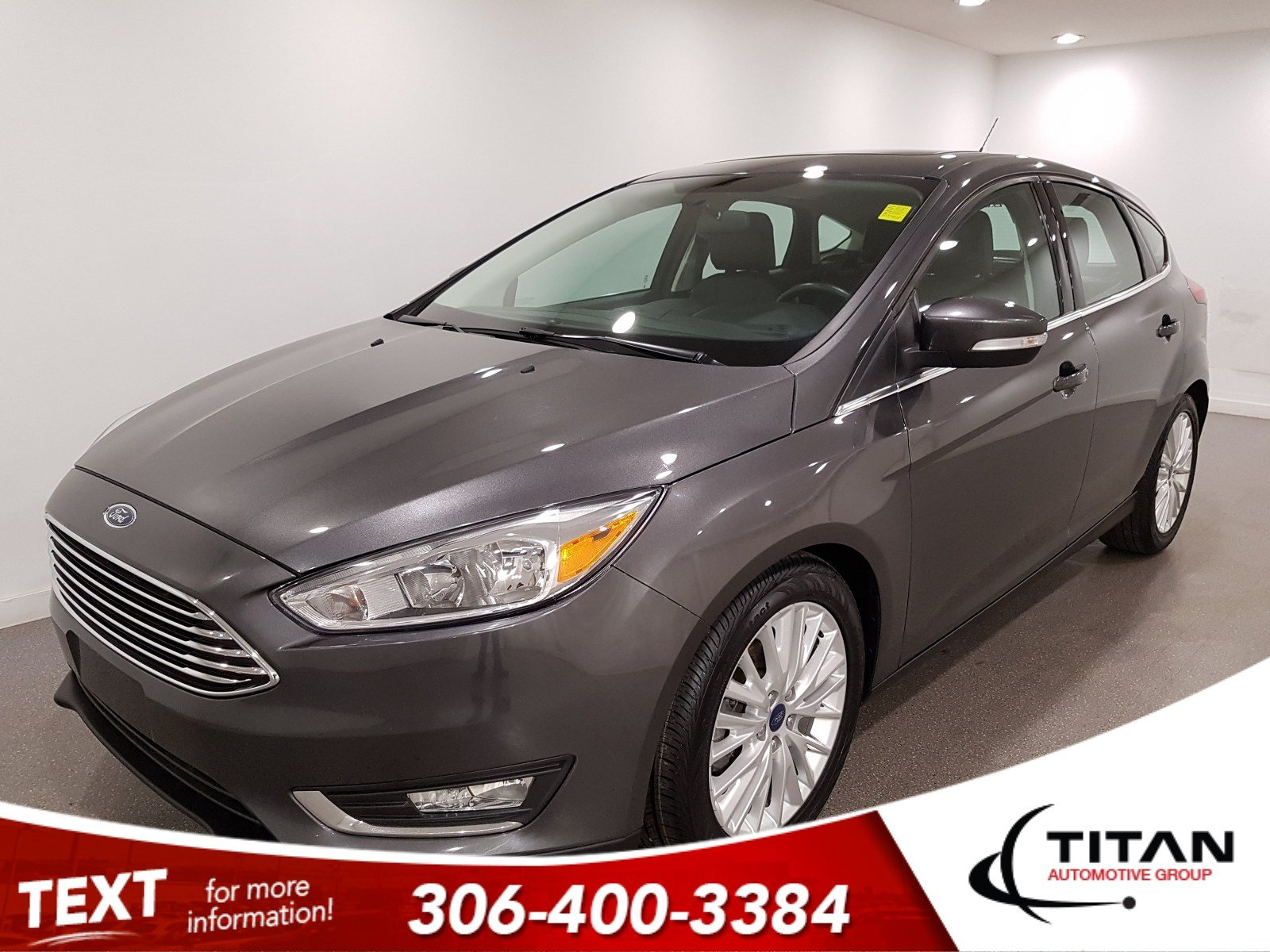 Pre-Owned 2018 Ford Focus Titanium|CAM|Htd Leather|Hatchback|Alloys|Bluetooth
