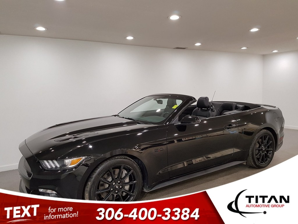 Pre Owned 2016 Ford Mustang Gt V8 Convertible Cam Leather Htd Seats