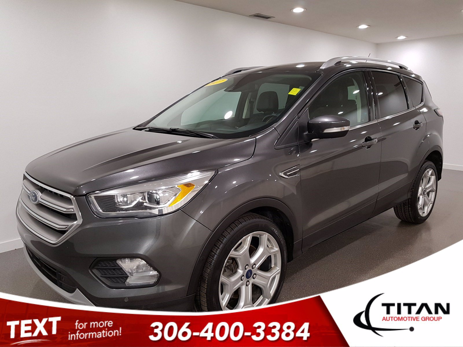 Pre-Owned 2017 Ford Escape Titanium EcoBoost | AWD | Leather | CAM | NAV | Remote Starter | Alloys