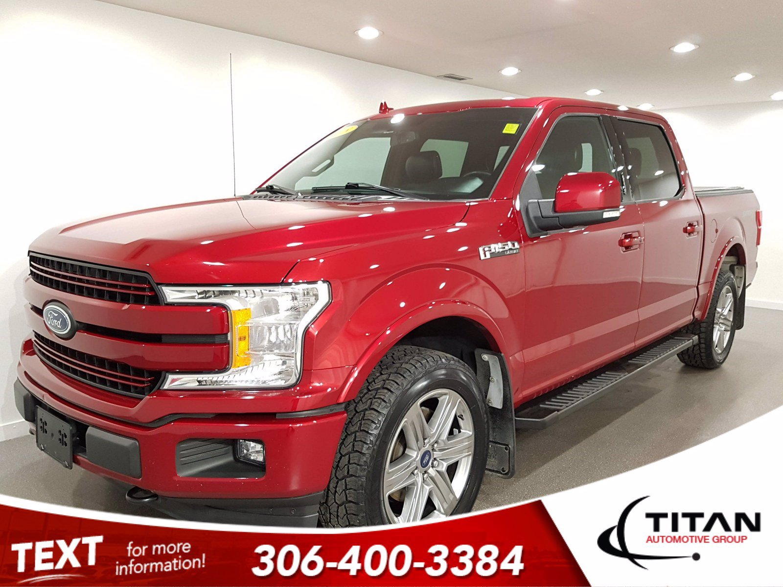 Pre-Owned 2018 Ford F-150 Lariat Sport | 4x4 | V6 | Ecoboost | CAM | Leather | NAV | B & O Audio | Pano Sunroof