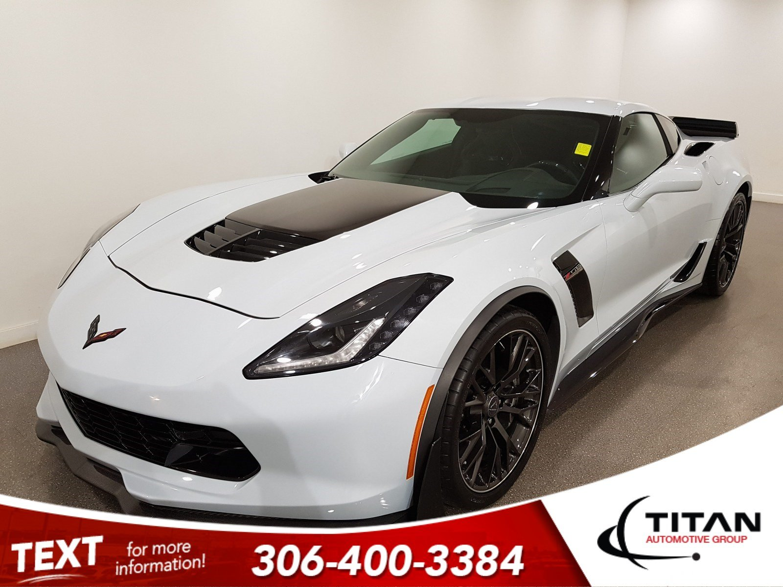 Pre-Owned 2018 Chevrolet Corvette Z06 3LZ|Z07 Performance|Supercharged|Brembo|NAV|BOSE|Ceramic Matrix Gray
