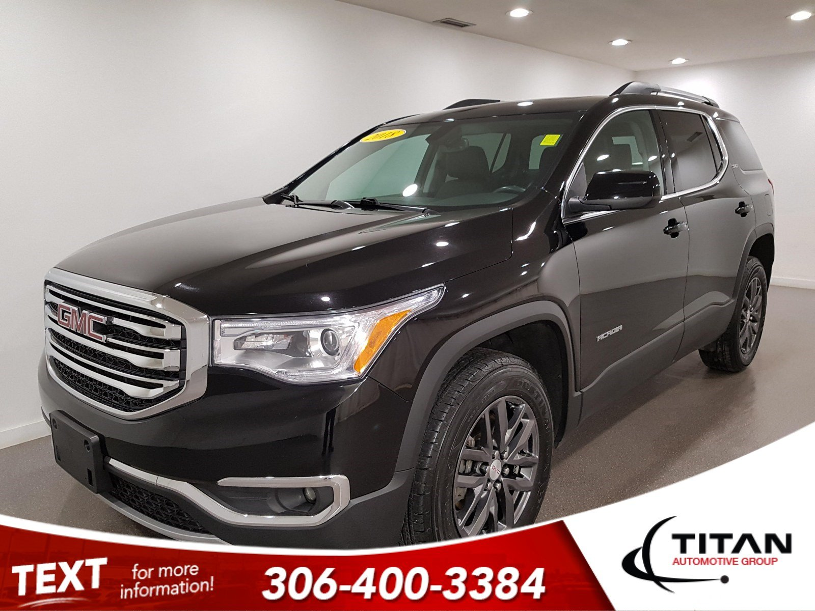 Pre-Owned 2018 GMC Acadia SLT AWD V6 | Heated Leather | Bose | Dual Sunroof | Navigation | Bluetooth | 3rd Row | Back Up Cam