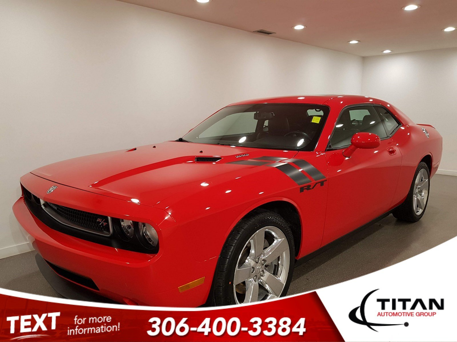 Pre-Owned 2010 Dodge Challenger R/T|V8|6spd|Leather|NAV|Rims|Htd Seats|