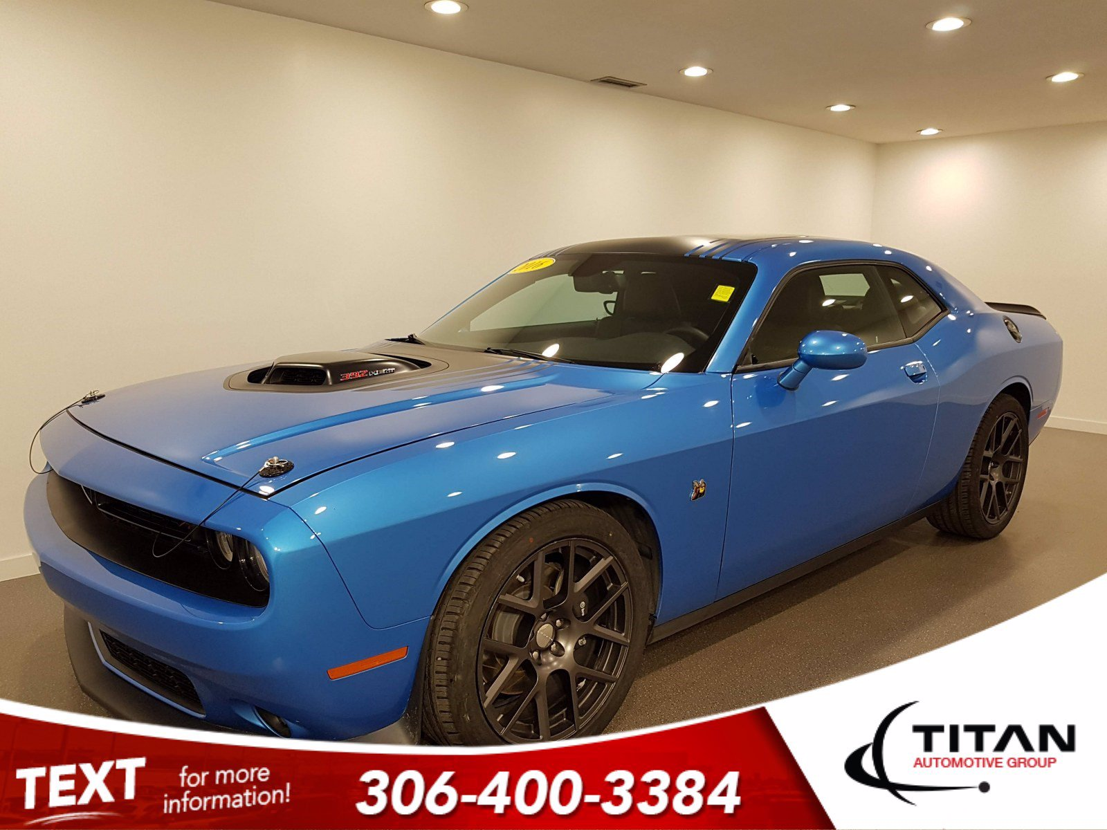 Pre-Owned 2016 Dodge Challenger Scat Pack Shaker | RT | V8 | 8speed | CAM | Leather | NAV