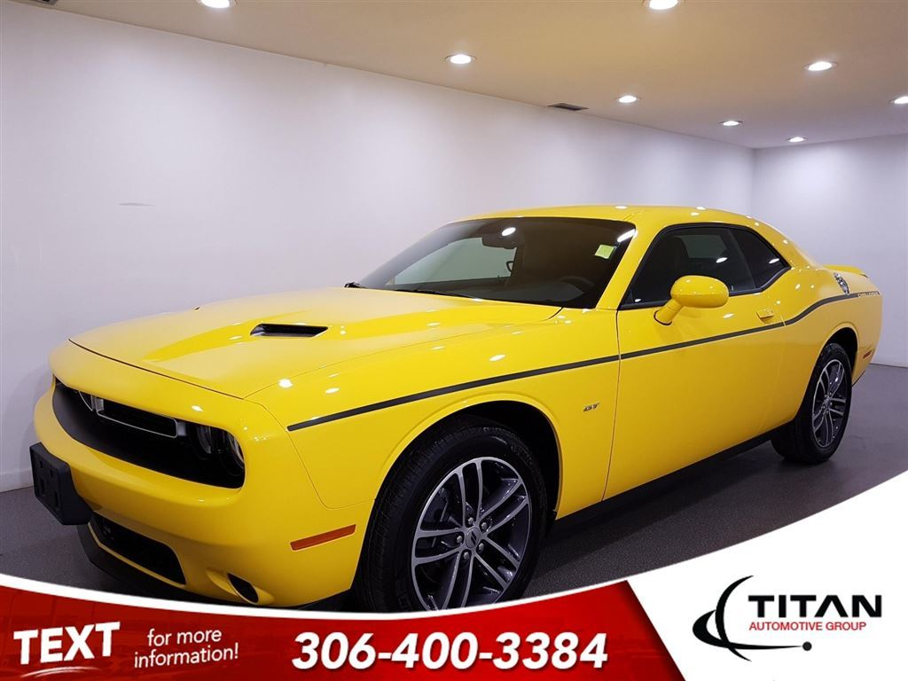 Pre-Owned 2018 Dodge Challenger GT AWD CAM Leather NAV Bluetooth