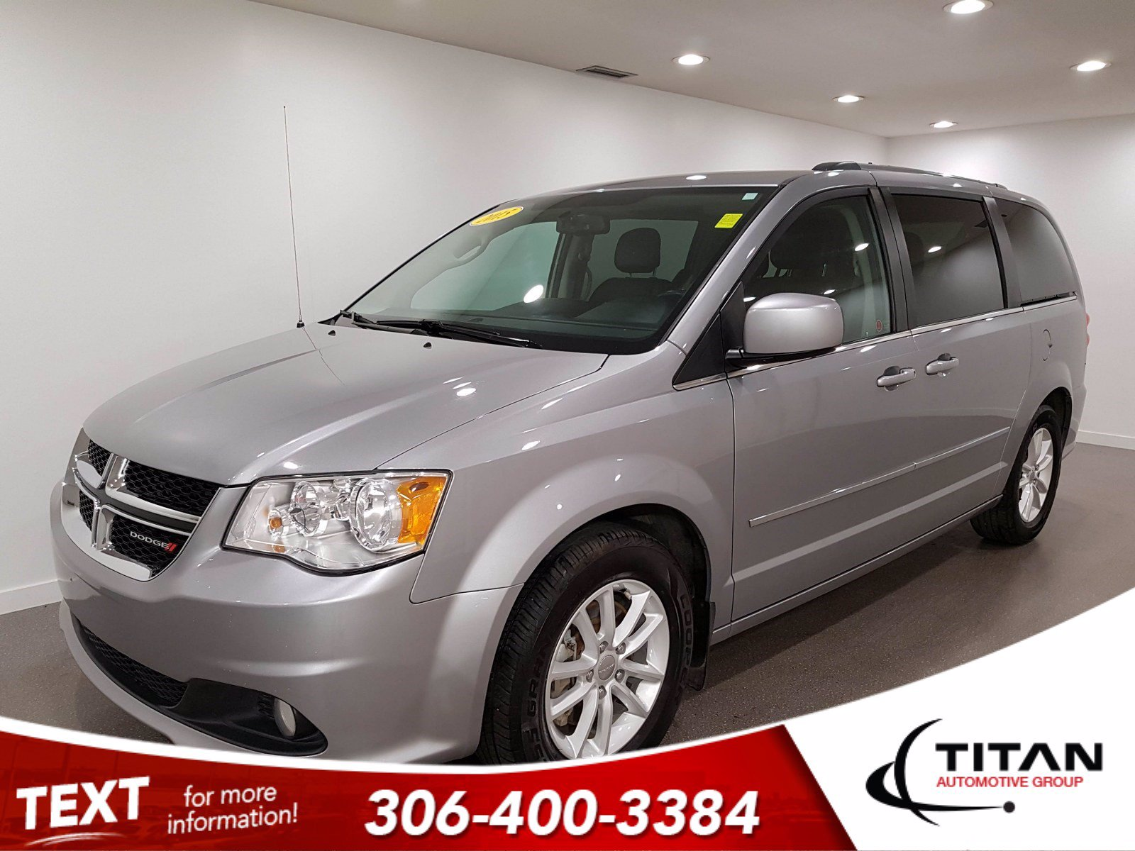 Pre-Owned 2015 Dodge Grand Caravan Crew | V6 | CAM | Alloys | Leather