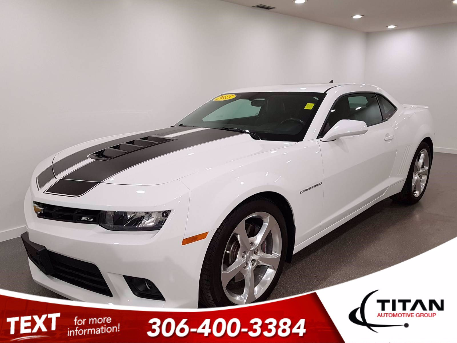 Pre-Owned 2015 Chevrolet Camaro 2SS 6.2L V8 | CAM | Leather | Rims | Paddle Shifters | Spoiler | Nav