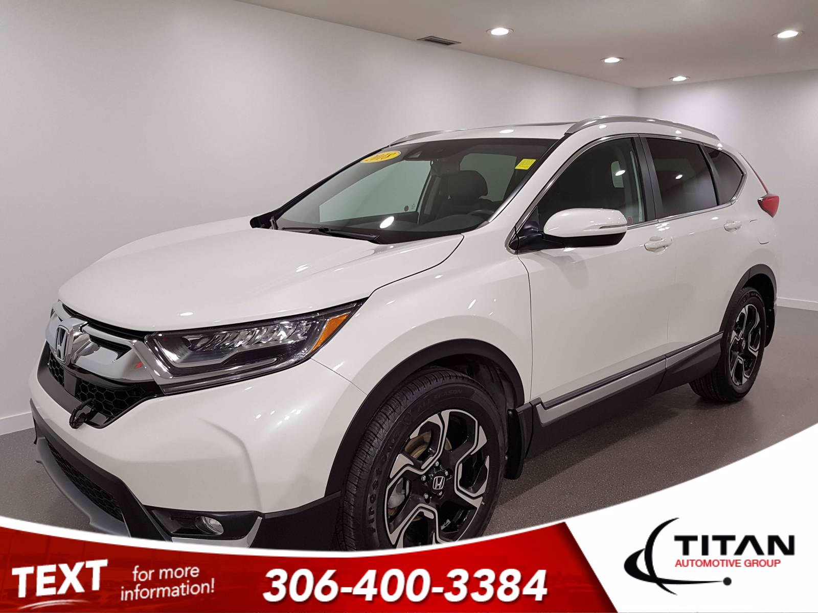 Pre-Owned 2018 Honda CR-V Touring AWD | Turbo | Sunroof | Heated Leather | Nav | Adaptive Cruise | Blind Spot Monitor | Rims