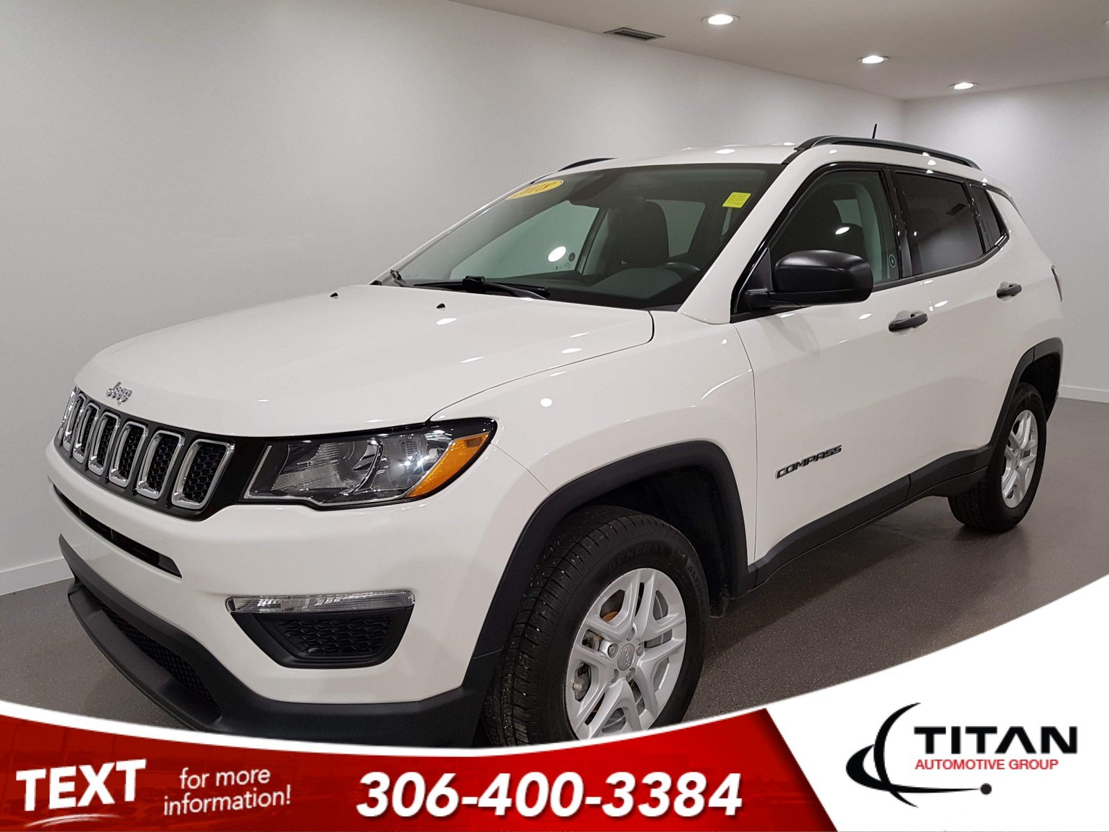 Pre-Owned 2018 Jeep Compass Sport | 4x4 | CAM | Htd Seats | Alloys