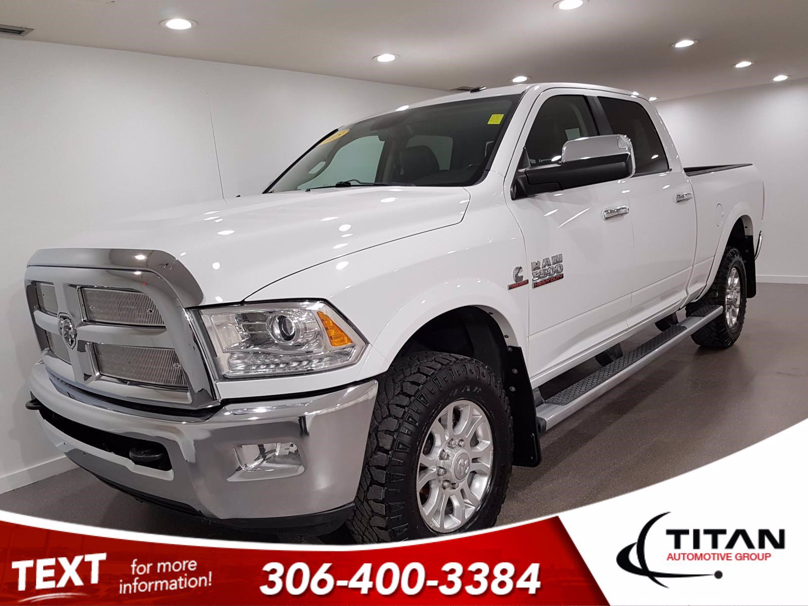 Pre-Owned 2015 Ram 3500 Laramie Crew Cab Cummins Diesel | Sunroof | Navigation | Remote Start