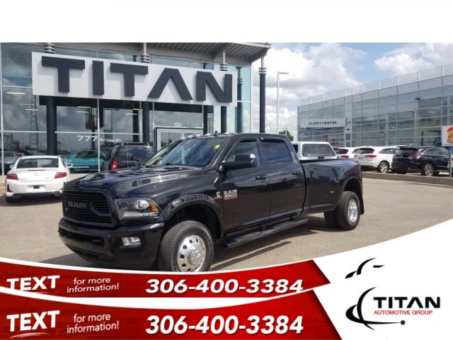 2018 Ram 3500 Laramie Dually Cummins AISIN 4x4 CAM HTD Leather
