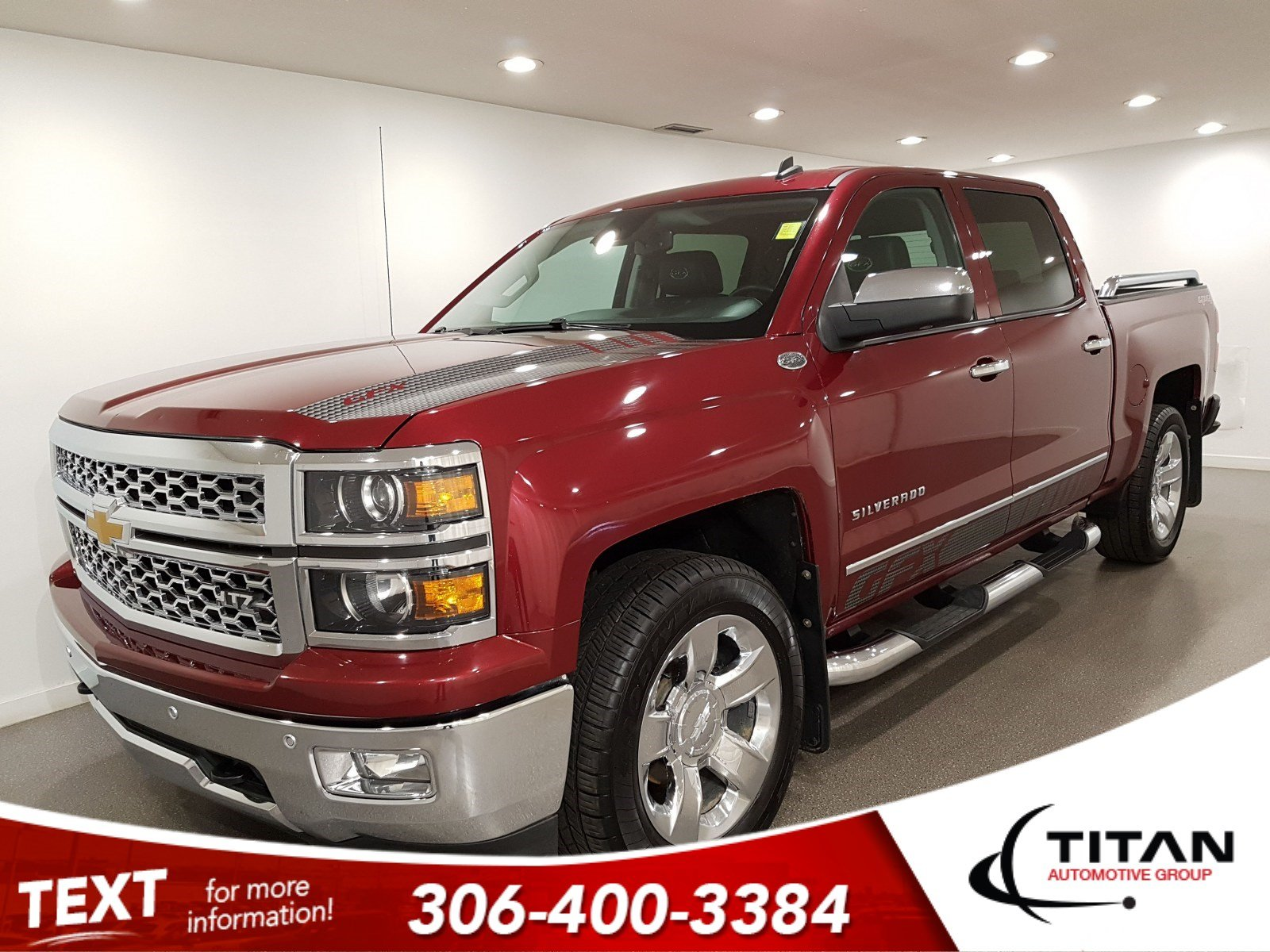 Pre-Owned 2014 Chevrolet Silverado 1500 LTZ GFX V8 4x4 CAM Leather NAV