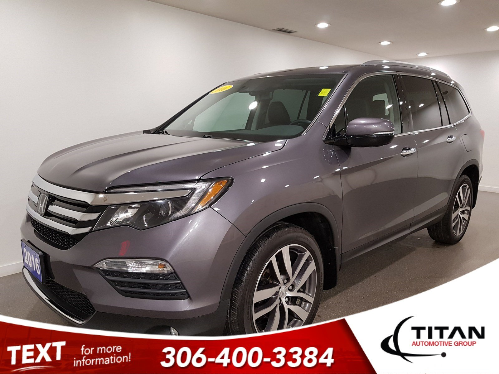 Pre-Owned 2016 Honda Pilot Touring|AWD|CAM|NAV|Rims|Htd Seats|V6