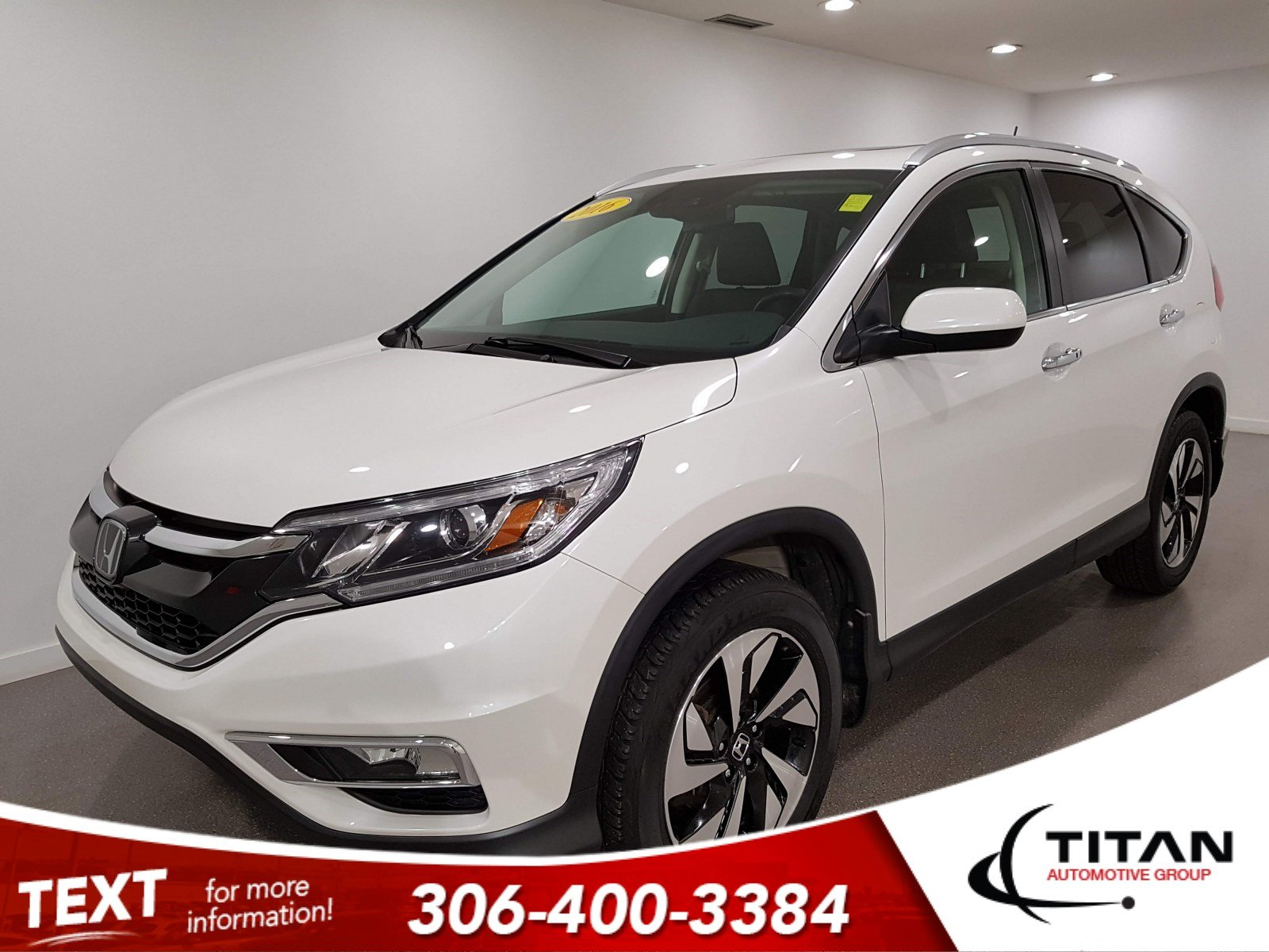 Pre-Owned 2016 Honda CR-V Touring|AWD|CAM|NAV|Leather|Htd Seats