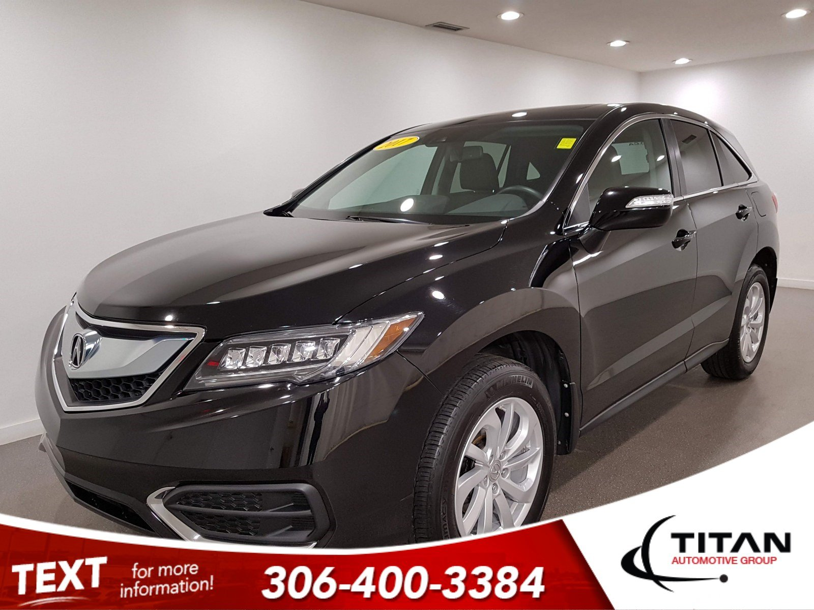 Pre-Owned 2017 Acura RDX Tech AWD | Leather | Sunroof | Navigation
