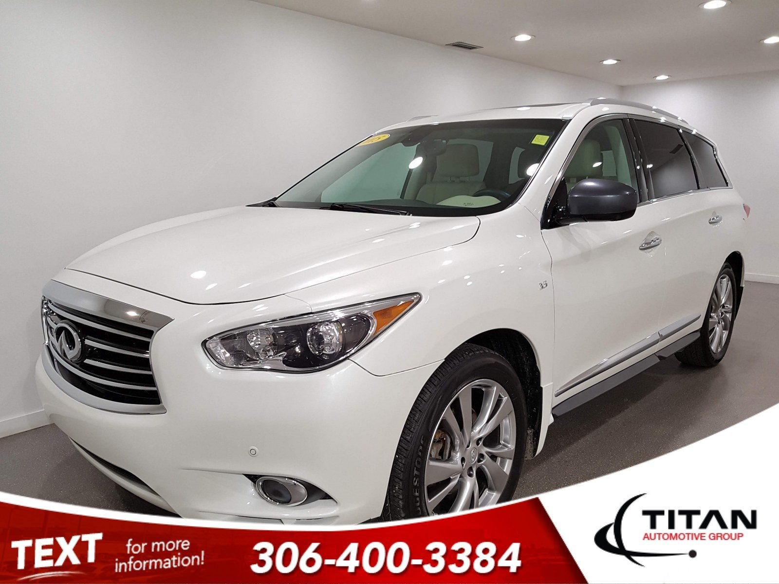 Pre-Owned 2015 INFINITI QX60 V6|AWD|CAM|Leather|NAV|Rims|Htd Seats|7Pass