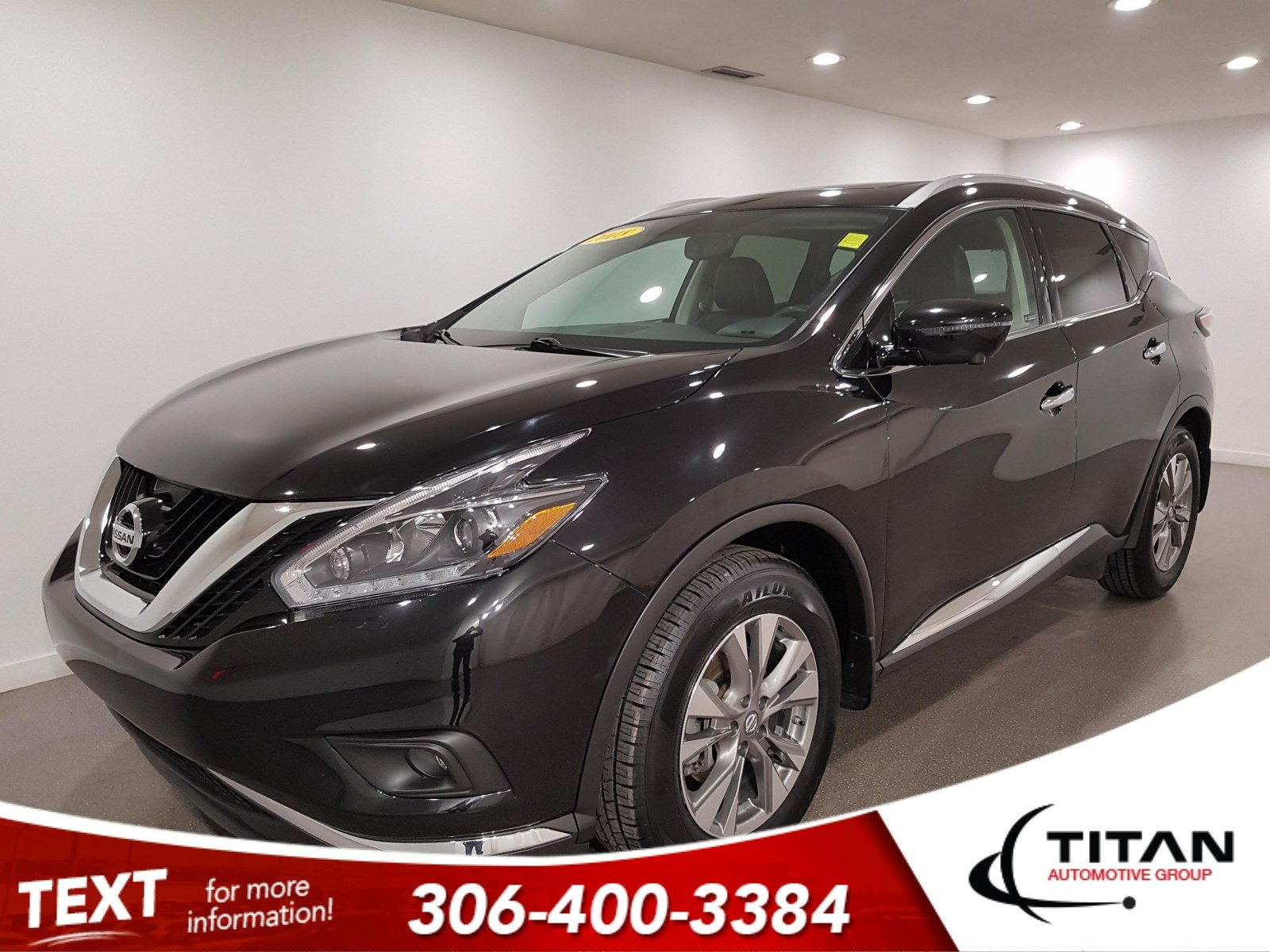 Pre-Owned 2018 Nissan Murano SL V6 | Leather | Sunroof | Navigation