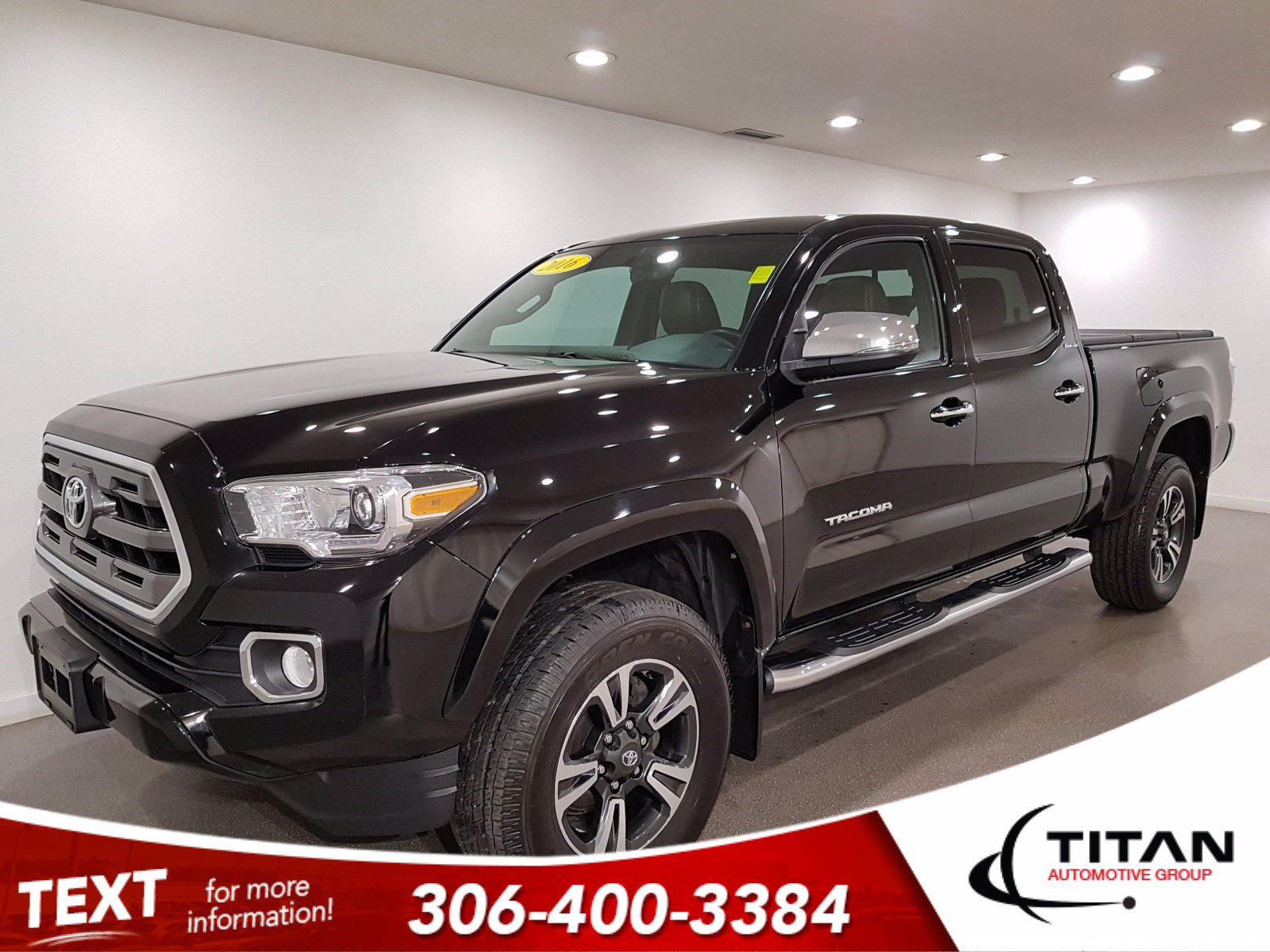 Pre-Owned 2016 Toyota Tacoma Limited Crew Cab V6 | Leather | Sunroof | Navigation