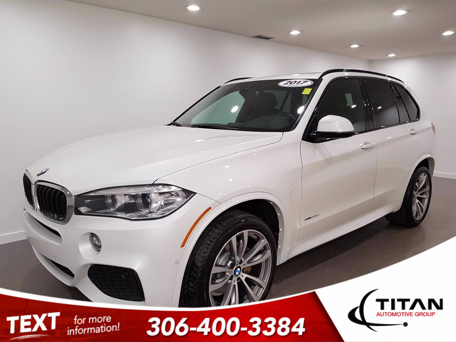 Pre-Owned 2017 BMW X5 xDrive35d | Diesel | AWD | Safety Package | NAV | Leather| Cold Weather Package