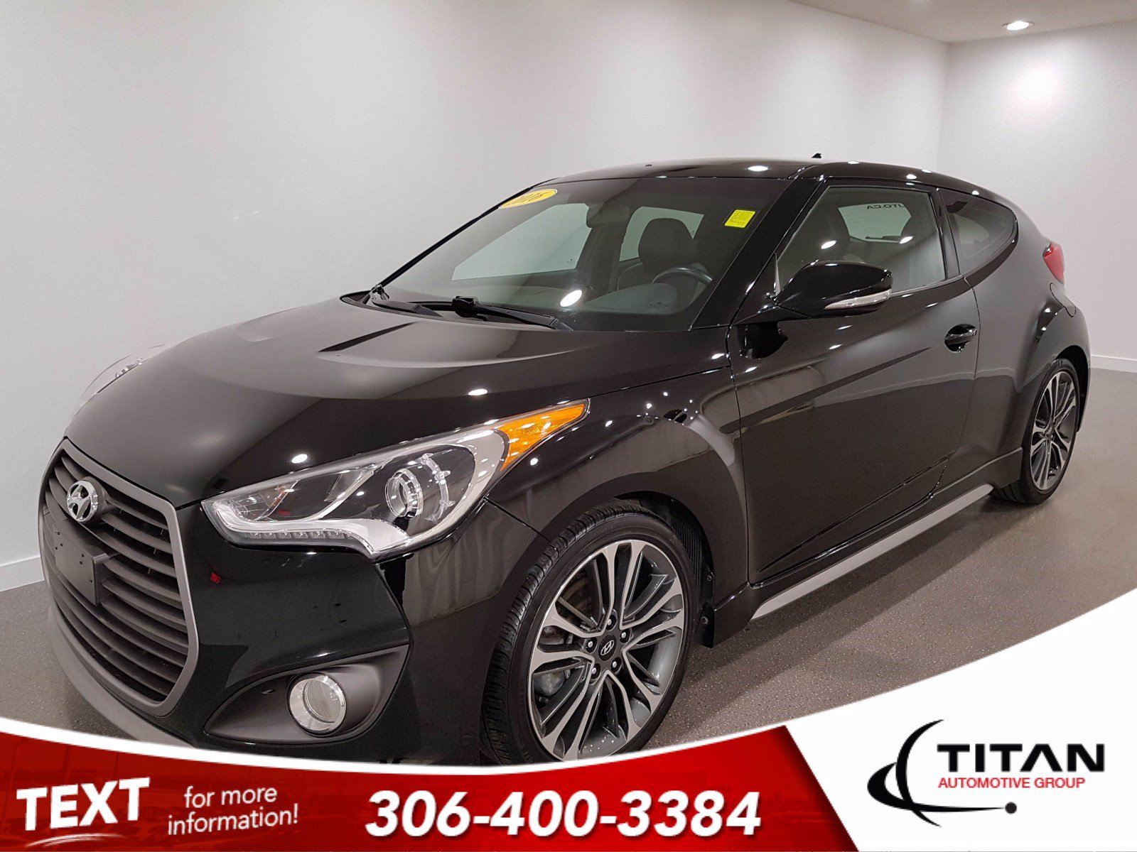 Pre-Owned 2016 Hyundai Veloster Turbo | Heated Leather | Sunroof | Dimensions Audio | Bluetooth | Navigation | Rims