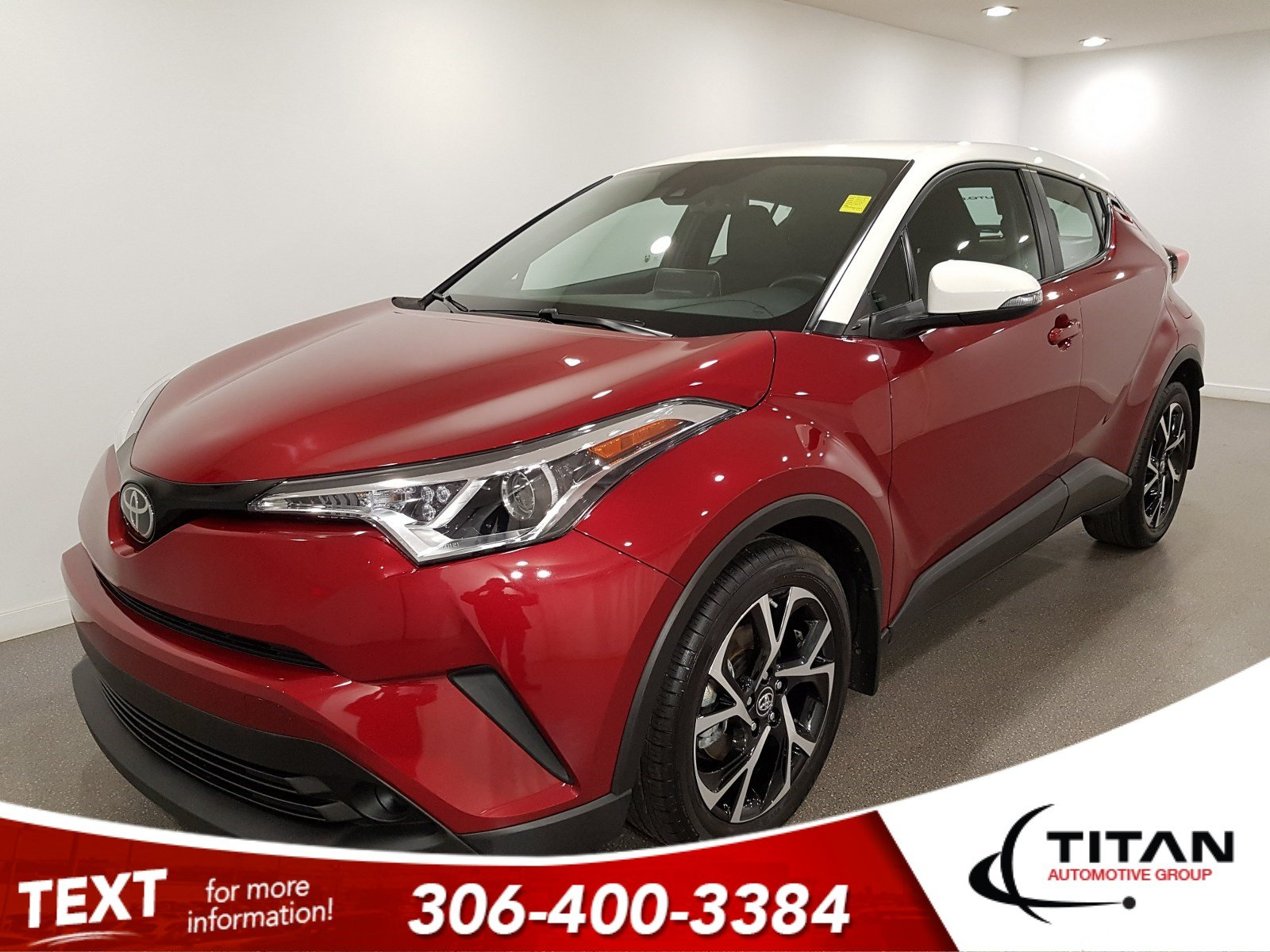 Pre-Owned 2019 Toyota C-HR XLE Premium|White Roof|CAM|Htd Seats|Htd Mirrors|Alloys