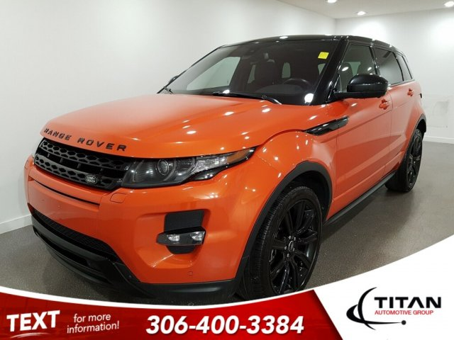 Pre-Owned 2015 Land Rover Range Rover Evoque Dynamic Phoenix Orange AWD CAM NAV Leather