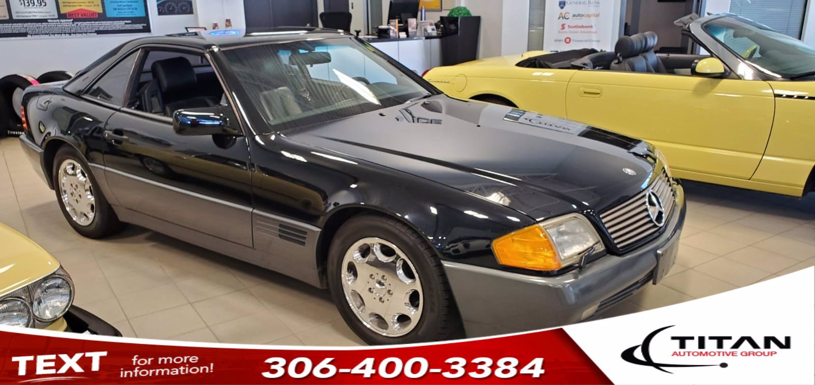 Pre-Owned 1991 Mercedes-Benz 500 Series 500SL | Convertible | Painted Hard Top