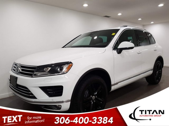Pre-Owned 2017 Volkswagen Touareg Wolfsburg Edition AWD CAM NAV Leather Alloys