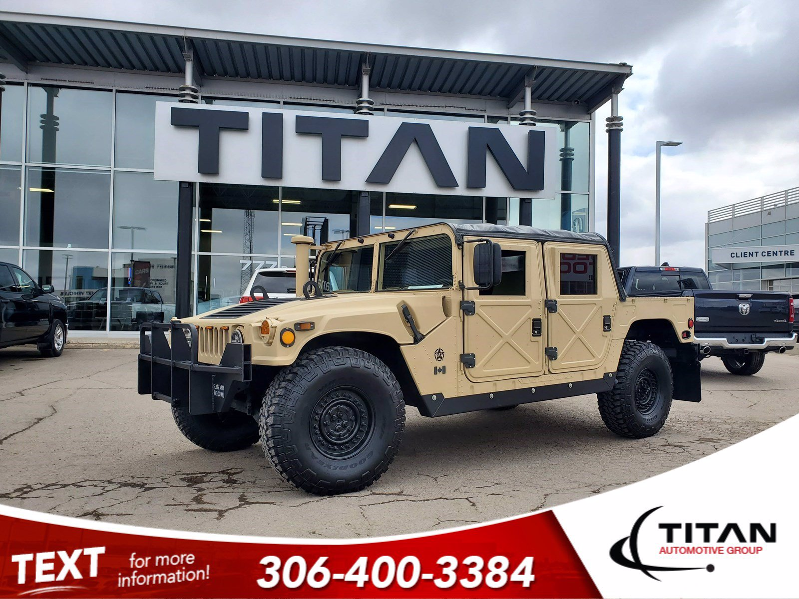 Pre-Owned 1994 A.M General Hummer Military Edition | Humvee | 6.5L V8 Diesel | 4x4 | Removable Soft Top | 37 Tires | Iconic