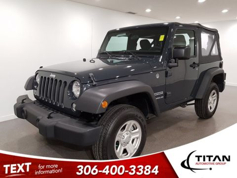 Pre-Owned 2017 Jeep Wrangler Sport ONLY 400km!!! V6 4x4 Manual Soft Top