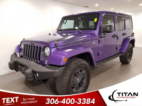 Pre-Owned 2017 Jeep Wrangler Unlimited Sahara Winter Edition|Xtreme Purple|4x4|6spd|NAV|Painted Top/Fenders|Alpine|Black Rims/Accents
