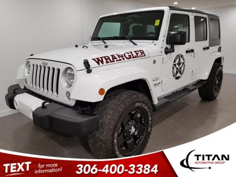 Pre-Owned 2016 Jeep WRANGLER UNLIMITED Sahara Rockstar Rims 4X4 NAV Soft/Hard Top