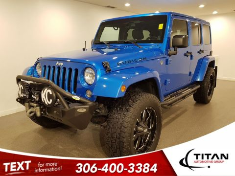 Pre-Owned 2014 Jeep Wrangler Unlimited Rubicon|4x4|NAV|Alloys|Local|Leather