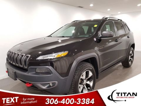 Pre-Owned 2018 Jeep Cherokee Trailhawk 4x4 V6 CAM Leather Alloys