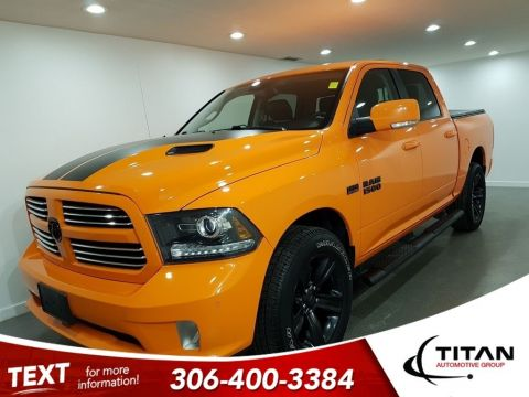 Pre-Owned 2017 Ram 1500 Sport Ignition Orange V8 4X4 Alpine NAV Htd Seats