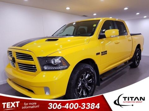 Pre-Owned 2016 Ram 1500 Sport Stinger Yellow 4x4 Leather NAV Custom Rims