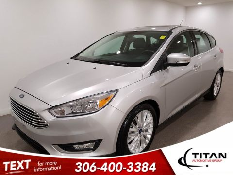 Pre-Owned 2018 Ford Focus Titanium|CAM|Leather|Rims|Htd Seats|Sunroof