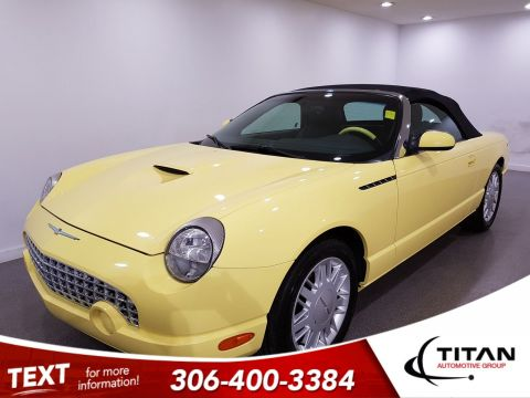 Pre-Owned 2002 Ford Thunderbird V8|Convertible|Inspiration Yellow|Painted Hardtop|2 Tone Interior|Auto