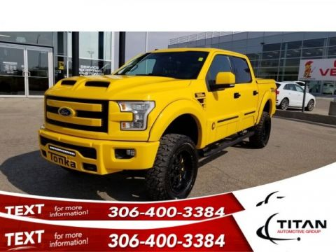 Pre-Owned 2016 Ford F-150 TONKA LIFT 5.0L 35's on 20's #124-200 Leather