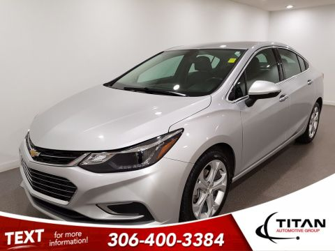 Pre-Owned 2018 Chevrolet Cruze Premier|CAM|Alloys|Leather|Htd Seats|Bluetooth