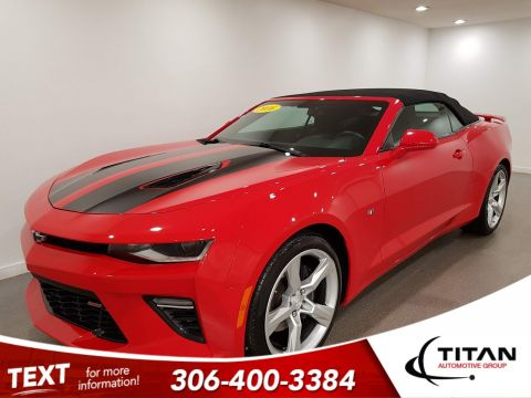 Pre-Owned 2016 Chevrolet Camaro 1SS|V8|Convertible|CAM|Rims|6spd|Local|