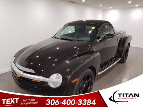 Pre-Owned 2004 Chevrolet SSR Super Sport Roadster|Smokin' Asphalt Black|Leather|Convertible!|1 of 365 Canadian Models|BlackAlloys